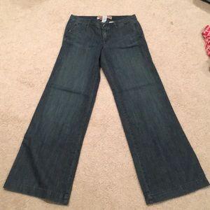 Gap wide leg trouser jeans